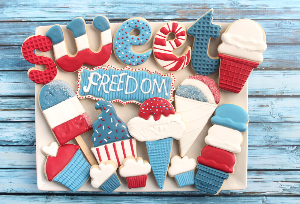 Sweet Freedom Patriotic Decorated Cookie Collection