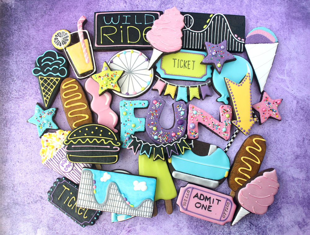 Amusement Park FUN Decorated Cookie Collection