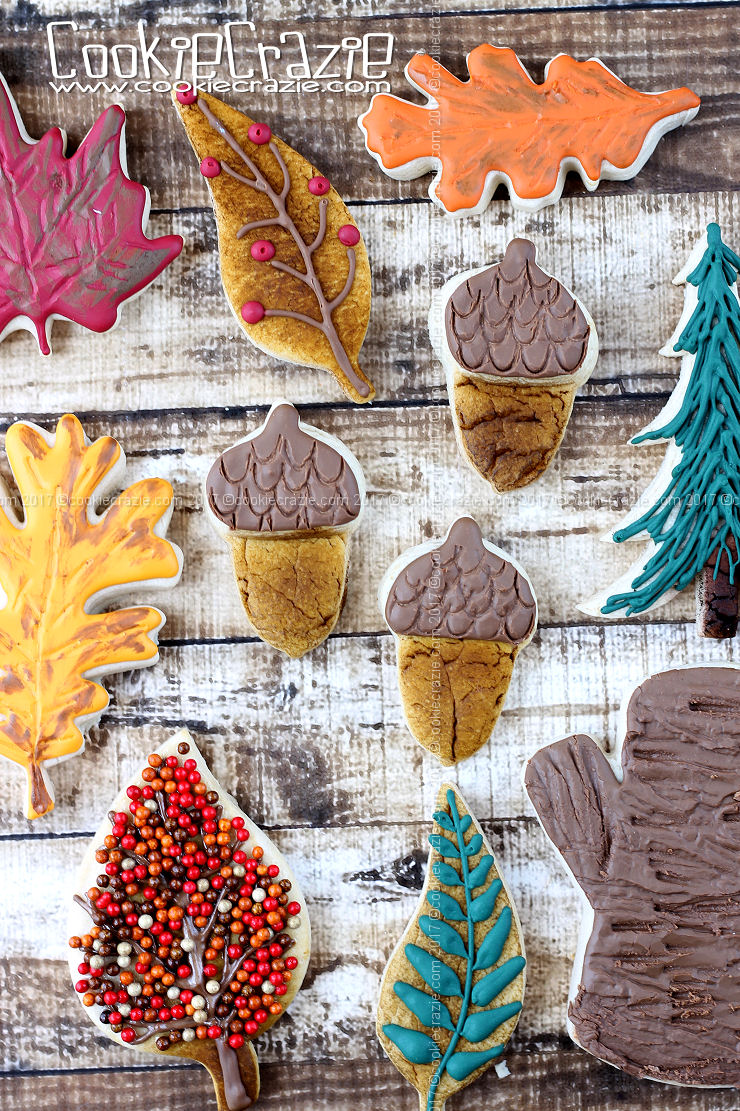 Acorn Decorated Cookies (Tutorial)