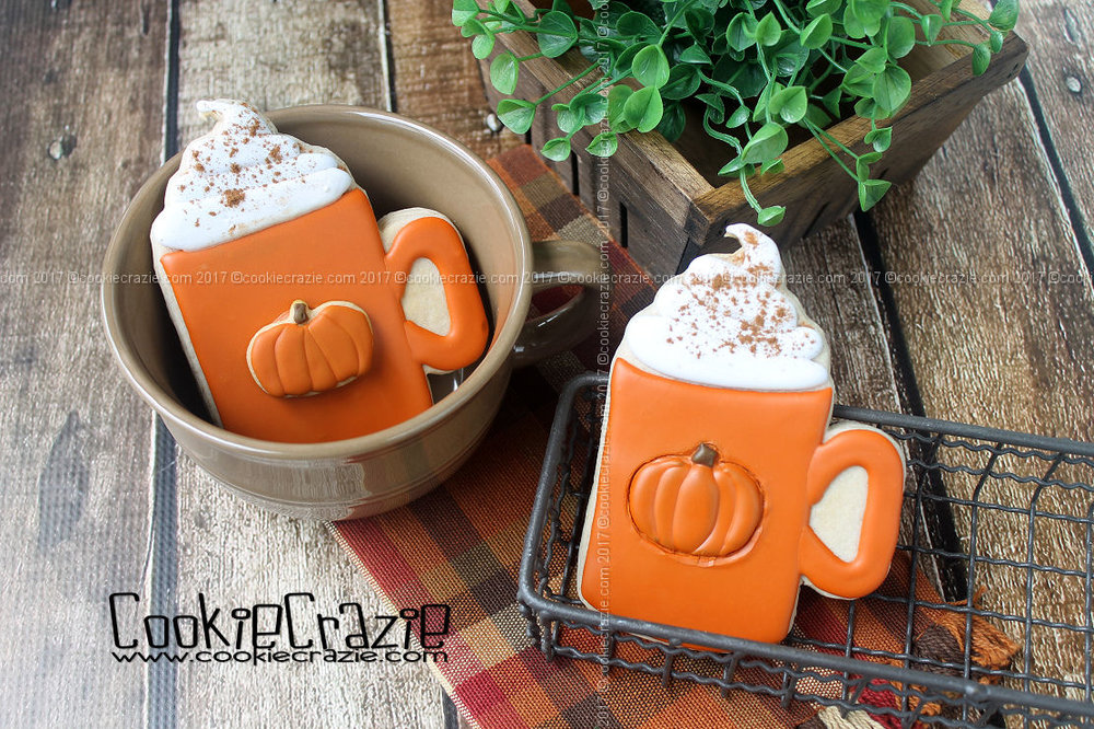 Pumpkin Latte Decorated Cookies (Tutorial)