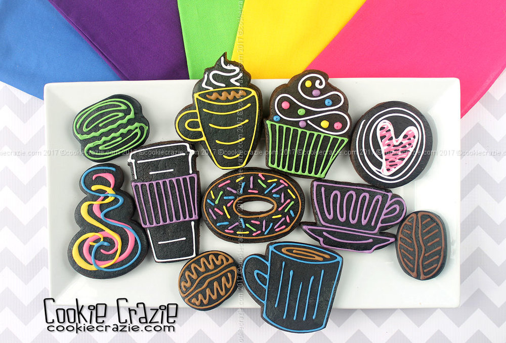Neon Sign Styled Decorated Cookies (Tutorial)