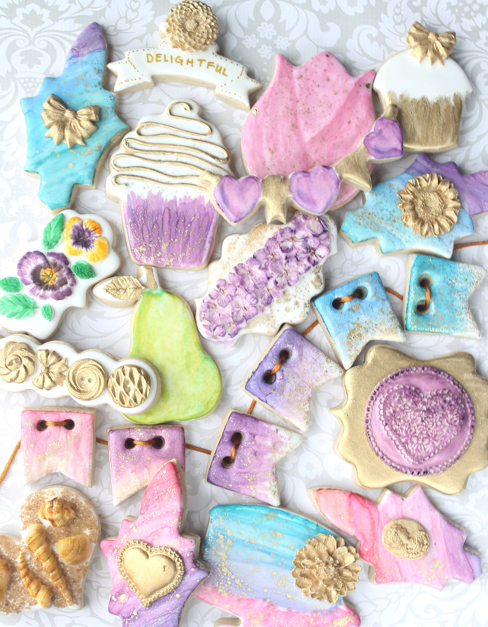 Watercolors + Edible Clay Decorated Cookie Collection
