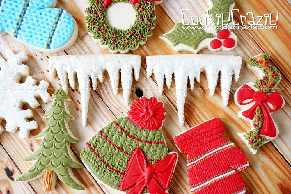 Icicle Decorated Sugar Cookie YouTube video  HERE