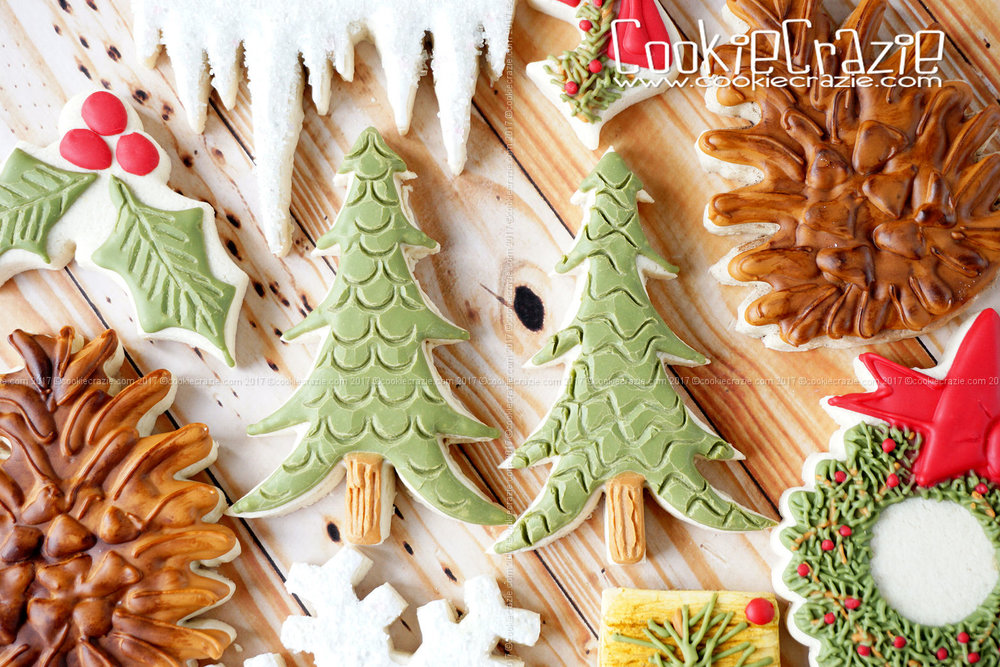 Christmas Tree Decorated Sugar Cookie YouTube video  HERE