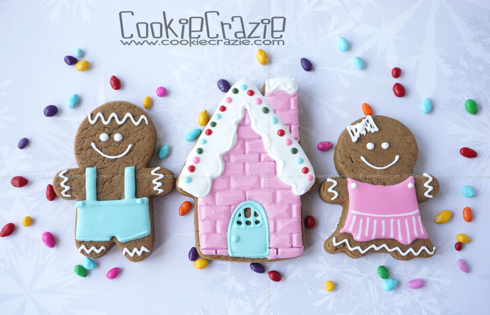 Gingerbread Boy & Girl Decorated Cookies YouTube video  HERE    Gingerbread House Decorated Cookie YouTube Video  HERE