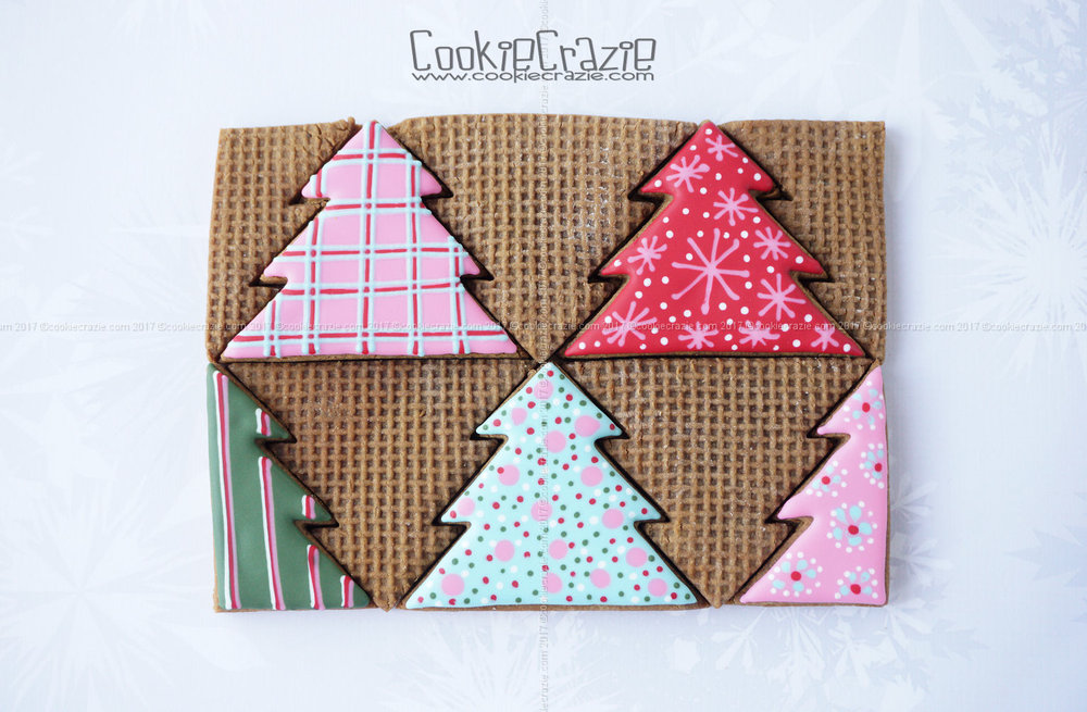 Gingerbread Christmas Tree Quilt Decorated Cookie Collection