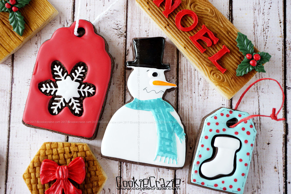 Funky Snowman Decorated Sugar Cookie YouTube video HERE