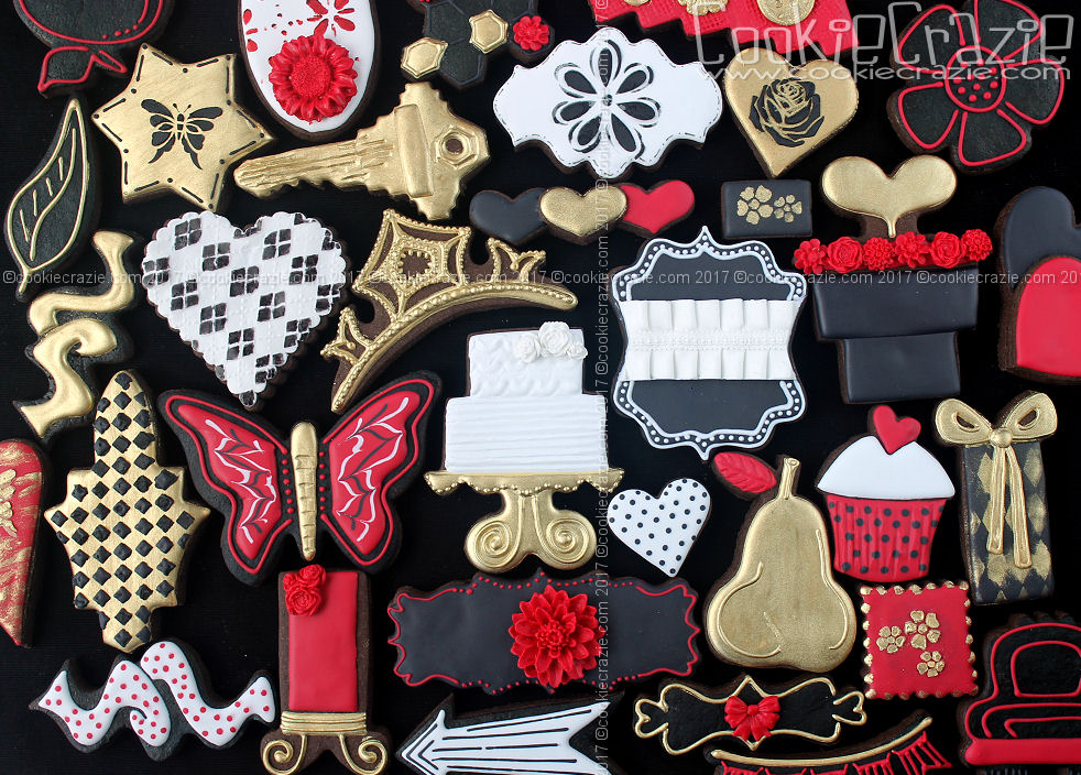 Make them BOLD with Red and Gold Cookie Collection