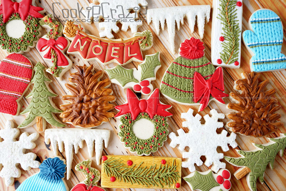 Woodsy Christmas Decorated Cookie Collection