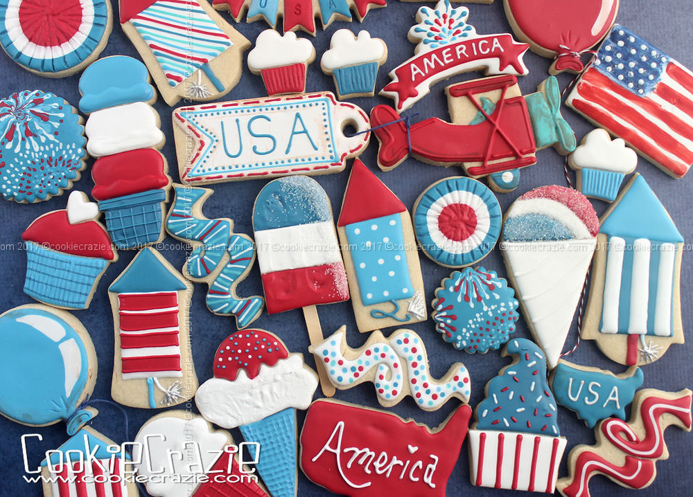 Happy Independence Day 2017 Decorated Cookie Collection