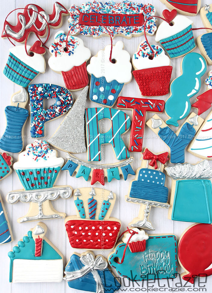 Birthday Party Decorated Cookie Collection