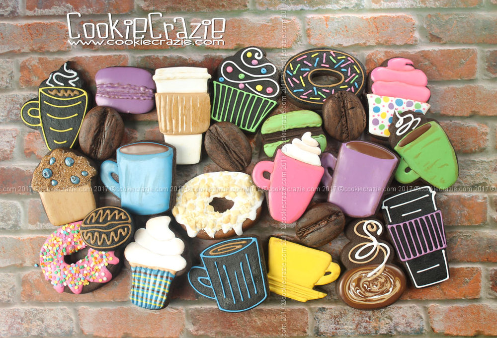 Coffee Shop Decorated Cookie Collection