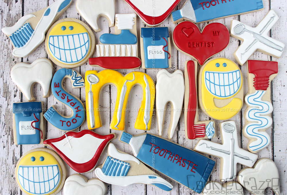Love My Dentist Decorated Cookie Collection