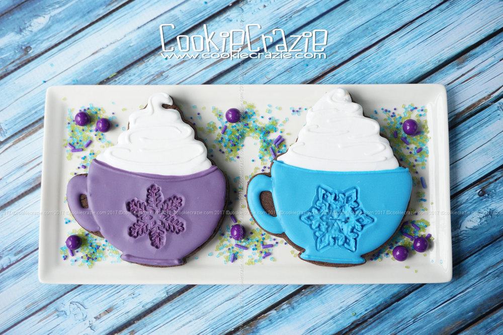 Hot Cocoa Mug Decorated Cookie (Tutorial)