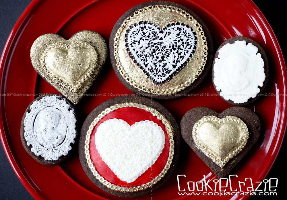 Lacey  Circle Heart Decorated Sugar Cookies YouTube video HERE  Valentine Heart & Cameo Decorated Sugar Cookies YouTube video HERE