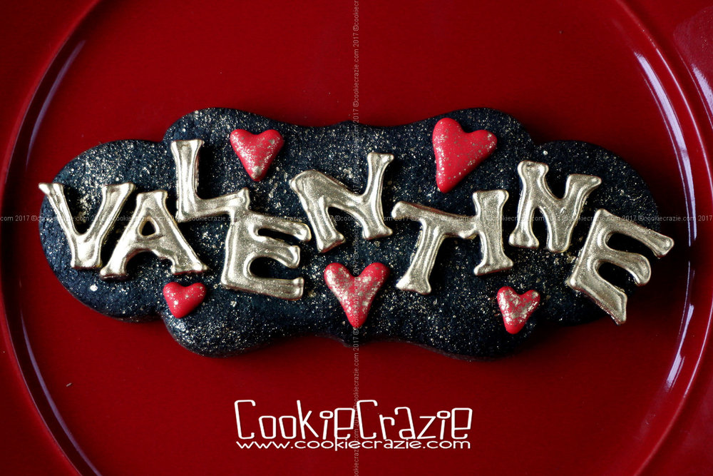 Valentines Plaque Decorated Sugar Cookie YouTube video  HERE