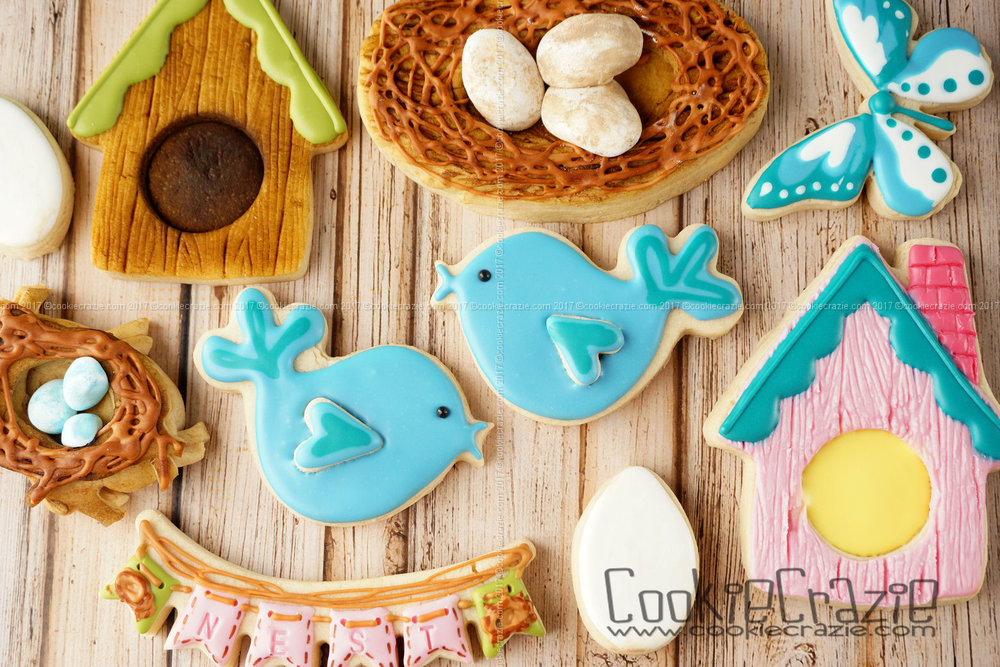 Blue Bird Decorated Sugar Cookie YouTube video  HERE