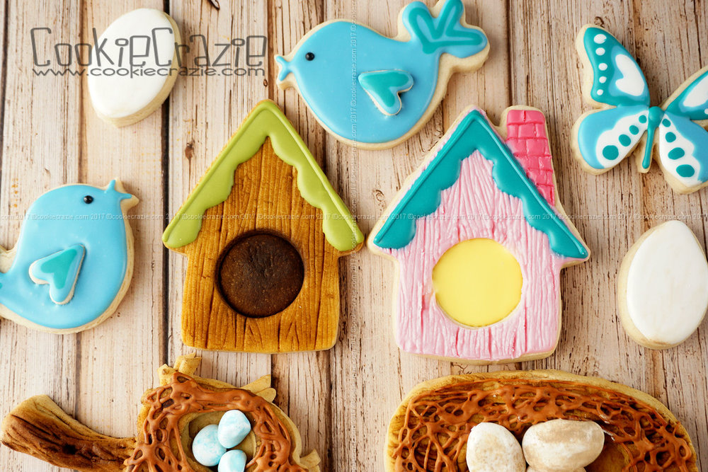 BIrdhouse Decorated Sugar Cookie YouTube video  HERE
