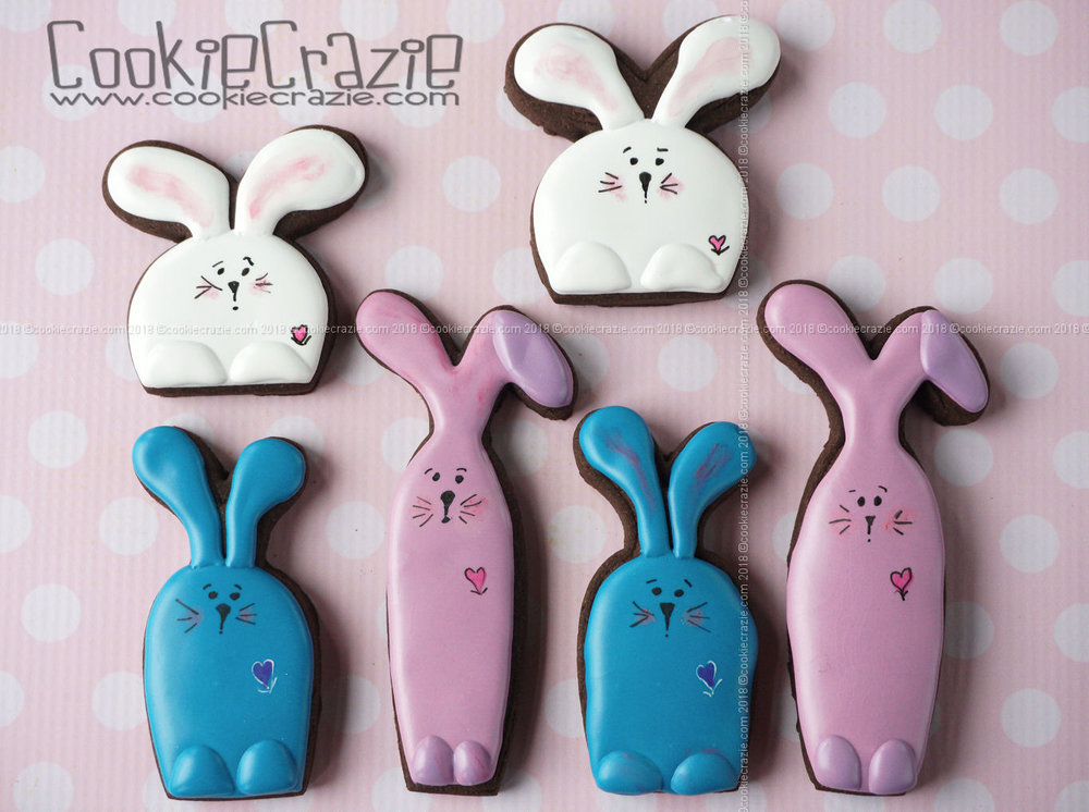 Bunny Decorated Sugar Cookie YouTube video found  HERE      Bunny cutters found  HERE