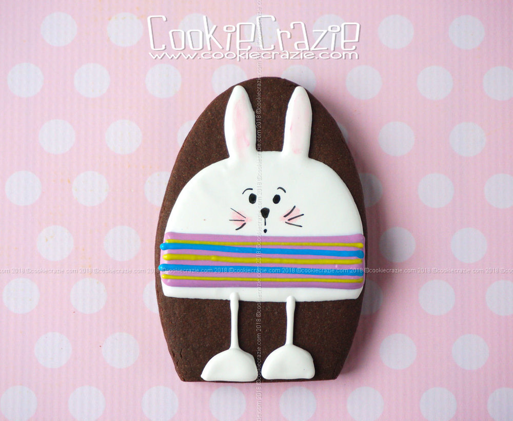 Silly Rabbit Decorated Sugar Cookie YouTube video  HERE