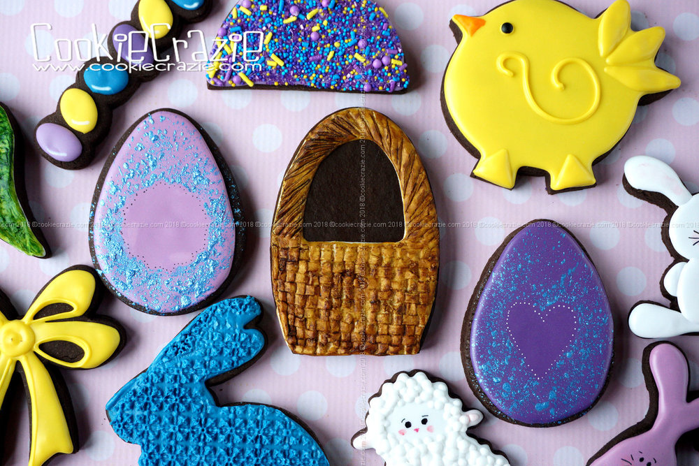 Basket Decorated Sugar Cookie YouTube video found  HERE
