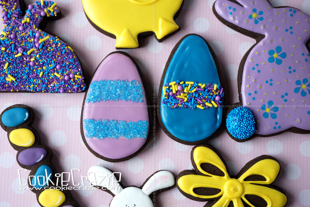 Sprinkle Easter Egg Decorated Sugar Cookies YouTube video  HERE . Sprinkles found  HERE .