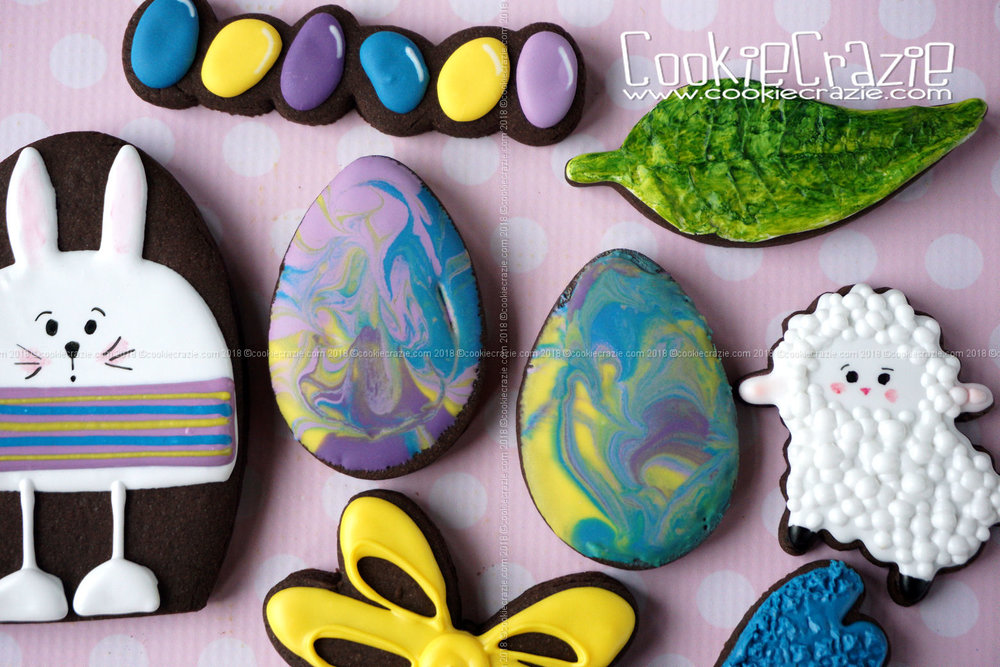 Marbled Easter Egg Decorated Sugar Cookies YouTube video  HERE