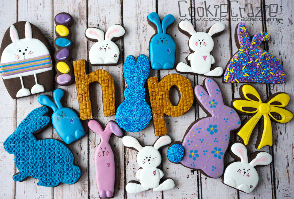 Bunny Hop Decorated Sugar Cookies blog post found  HERE