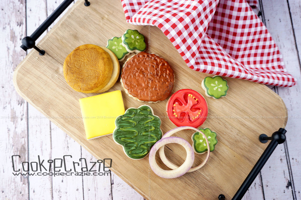Build-a-Burger Decorated Sugar Cookie YouTube video  HERE