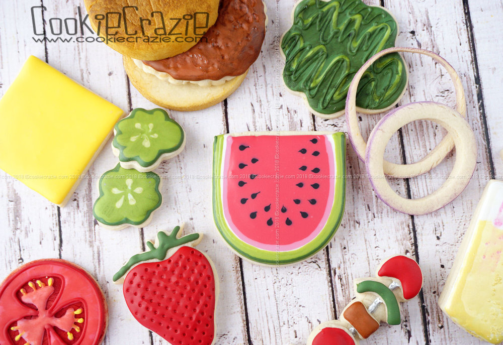 Watermelon Decorated Sugar Cookie YouTube video  HERE