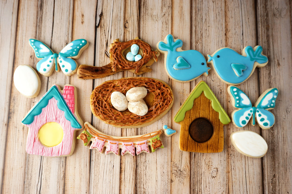 Spring Nesting Decorated Cookie Collection