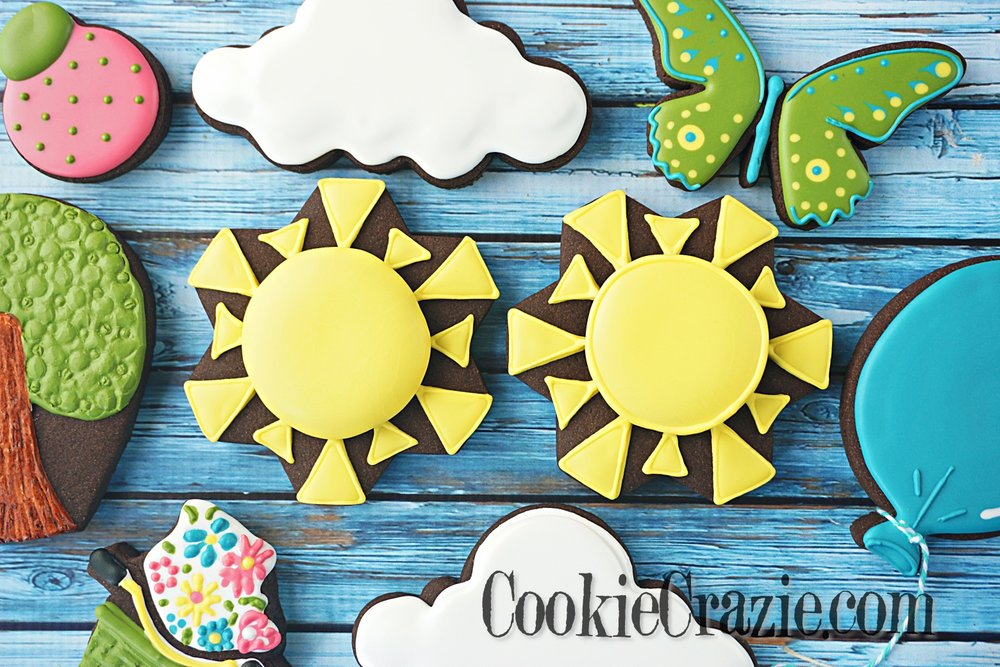 Sun Decorated Sugar Cookies YouTube video  HERE