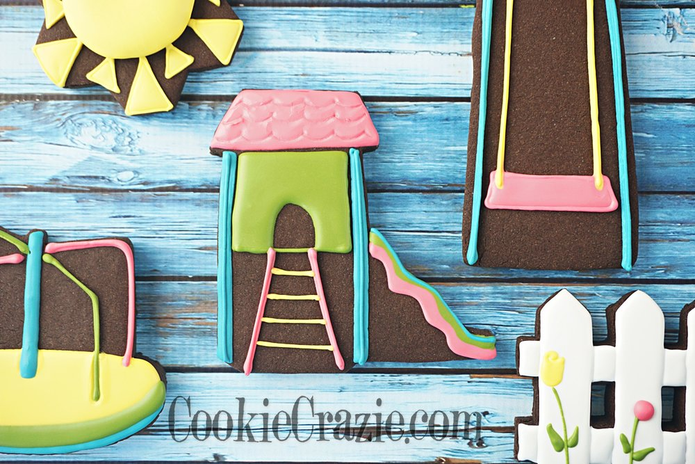 Summer Playscape Decorated Sugar Cookie YouTube video  HERE