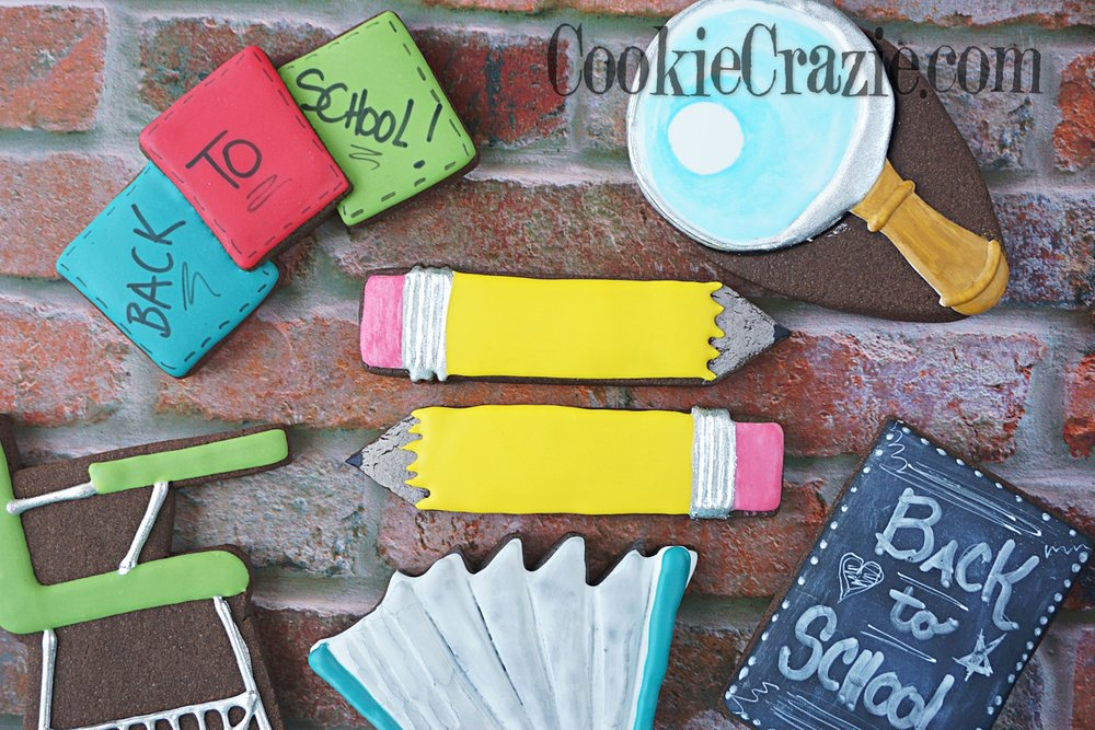Pencil Decorated Sugar Cookie YouTube video  HERE