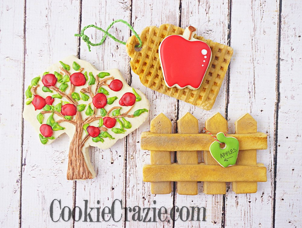 Apple Tree Decorated Sugar Cookie YouTube video  HERE