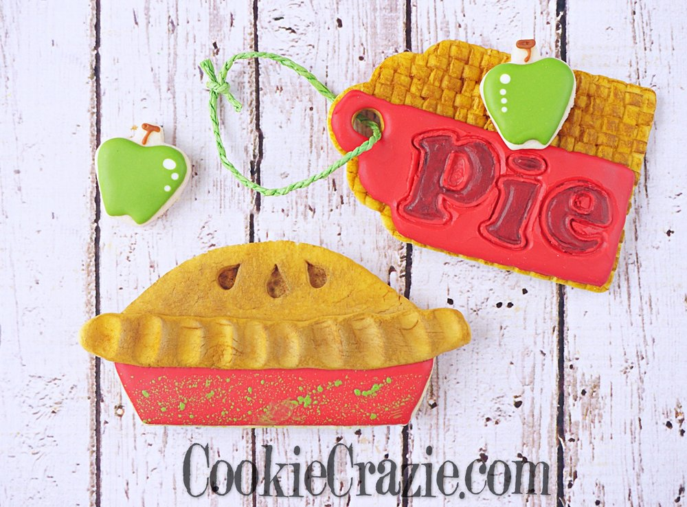 Apple Pie Decorated Sugar Cookie YouTube video  HERE