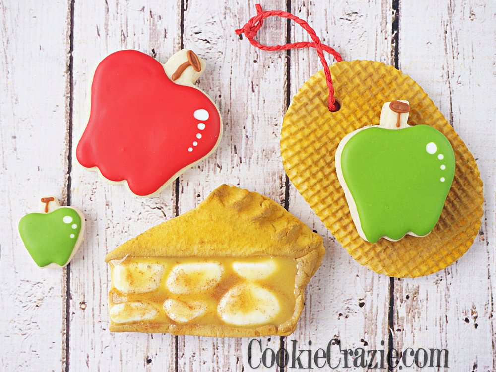 Apple Pie Slice Decorated Sugar Cookie YouTube video  HERE