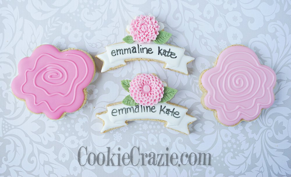 Birthday Banner for Emmaline Decorated Sugar Cookies YouTube video  HERE