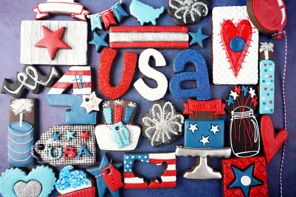 Happy 4th of July, America Decorated Cookie Collection