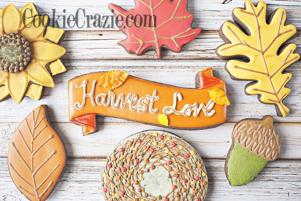 Harvest Love Banner Decorated Sugar Cookie YouTube video  HERE