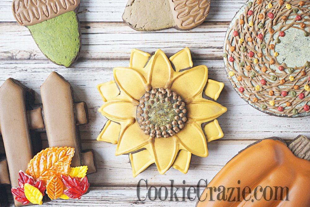 Sunflower Decorated Sugar Cookie YouTube video  HERE