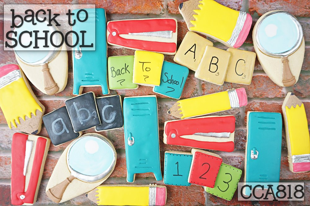 Back-to-School Cookies Class available August 2018 within CookieCrazie Academy Members Only area.