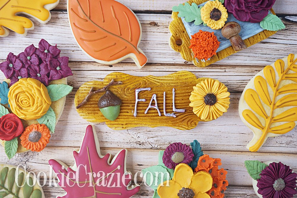 Fall Woodgrain Plaque Decorated Sugar Cookie YouTube vide  HERE