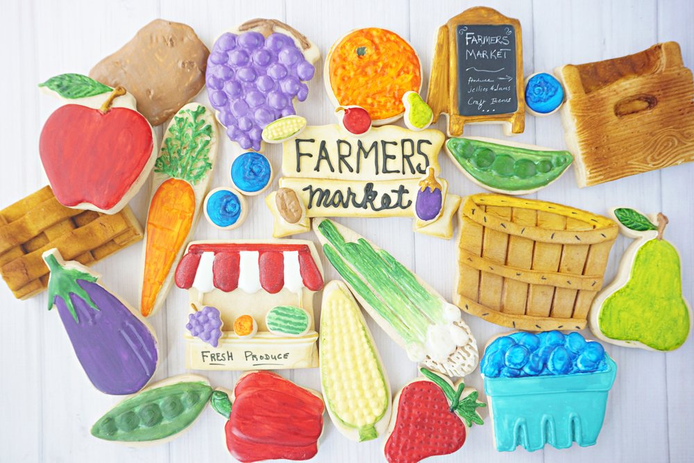 Farmers Market Decorated Cookie Collection