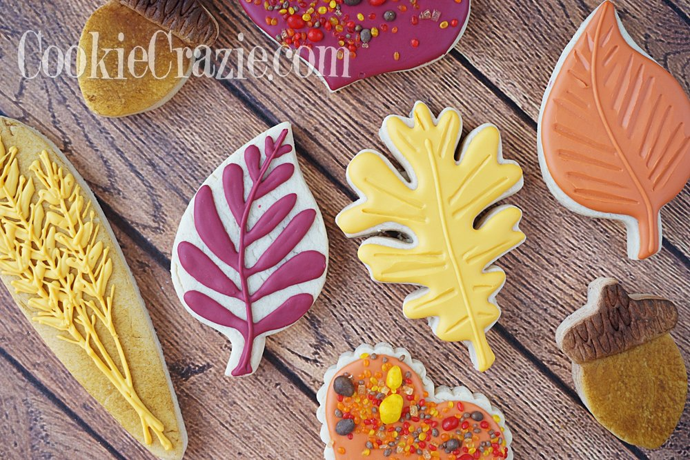 Autumn Leaves Decorated Sugar Cookies YouTube video  HERE