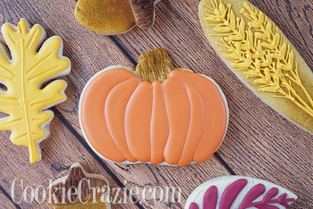 Pumpkin Decorated Sugar Cookie YouTube video  HERE