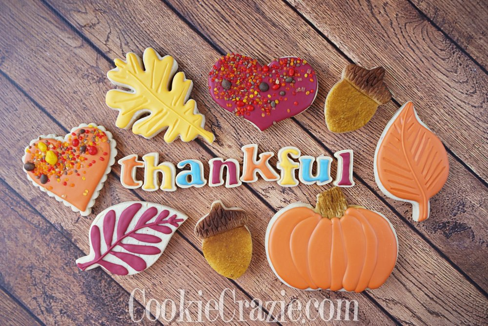 Thankful Decorated Sugar Cookies YouTube video  HERE