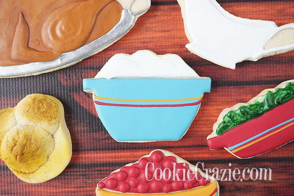 Bowl of Mashed Potatoes Decorated Sugar Cookie YouTube video  HERE