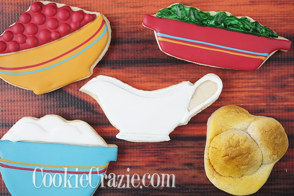 Gravy Boat Decorated Sugar Cookie YouTube video  HERE