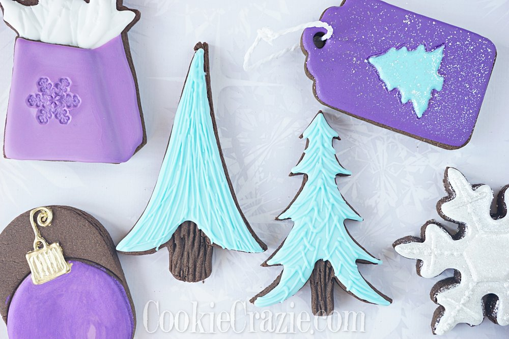 Christmas Peace Trees Decorated Sugar Cookies YouTube video  HERE